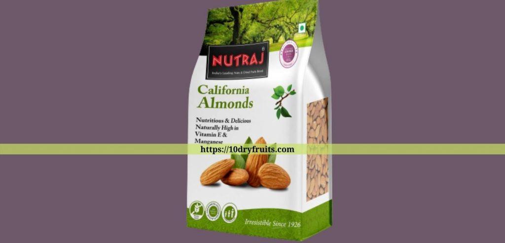 Nutraj California Almonds 1kg- Top 10 Almond Brands 1Kg Pack-Buyer's Guide